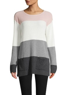 Vince Camuto Colorblock Roundneck Sweater