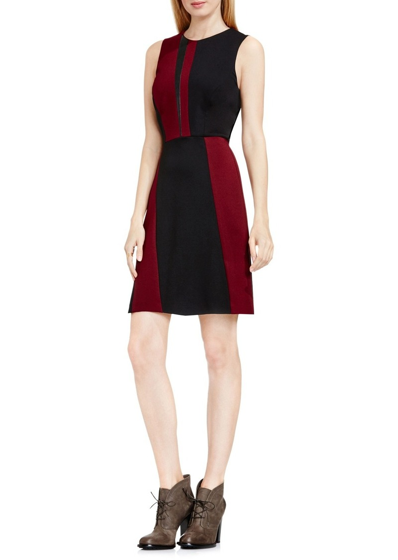 Vince Camuto Colorblock Sleeveless A-Line Dress