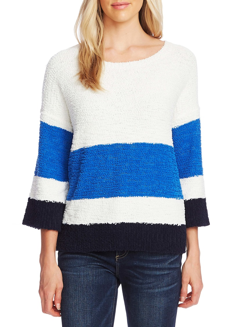 Vince Camuto Colorblock Teddy Knit Sweater
