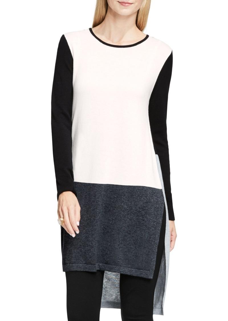 Vince Camuto Colorblock Tunic Sweater