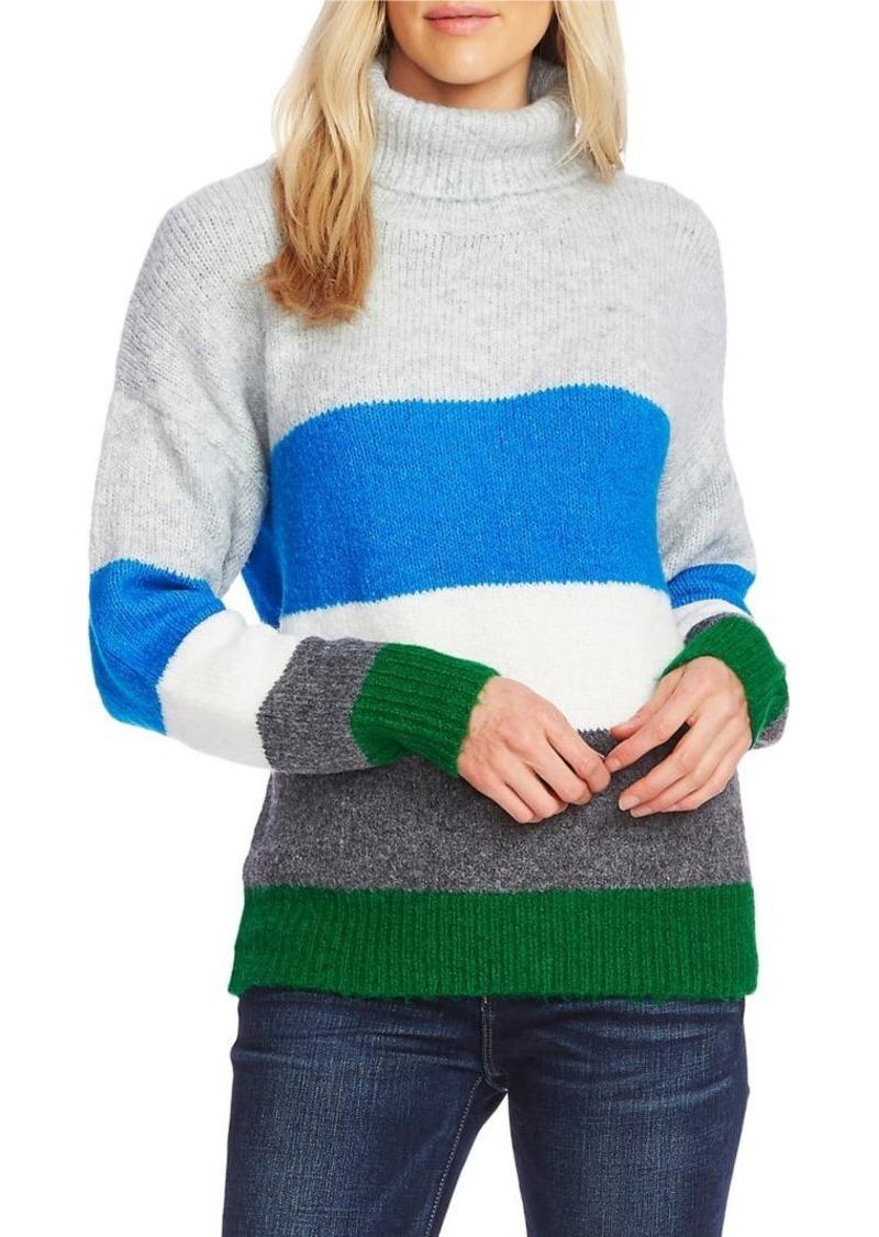 Vince Camuto Colorblock Turtleneck Sweater