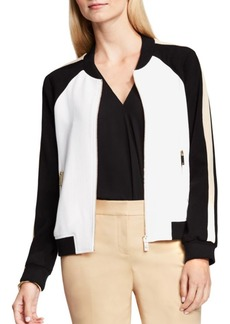 Vince Camuto Colorblocked Bomber Jacket