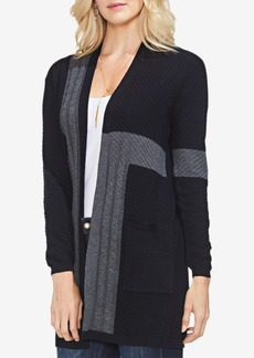 Vince Camuto Colorblocked Ribbed Cardigan