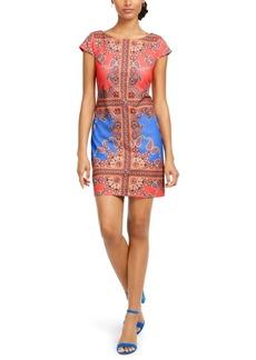 Vince Camuto Colorblocked Scuba Shift Dress