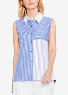 Vince Camuto Colorblocked Sleeveless Shirt