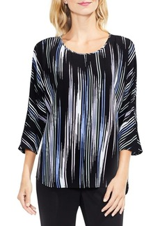 Vince Camuto Colorful Peaks Elbow-Sleeve Blouse