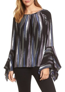 Vince Camuto Colorful Peaks Handkerchief Sleeve Top