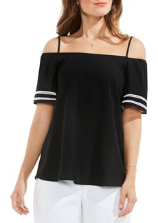 Vince Camuto Contrast Inset Off the Shoulder Blouse
