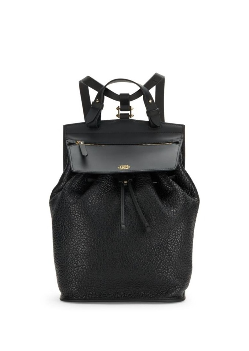 Vince Camuto Contrast Leather Backpack