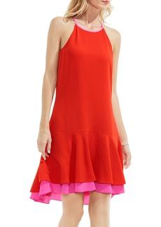 Vince Camuto Contrast Trim A-Line Dress