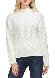 Vince Camuto Cotton Blend Cable Knit Sweater