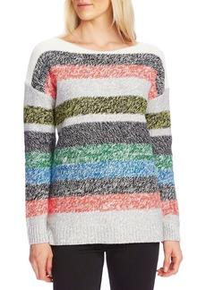Vince Camuto Cotton-Blend Colorblock Sweater