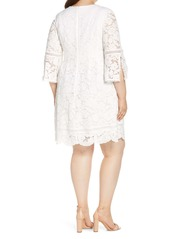 Vince Camuto Cotton Blend Lace Fit & Flare Dress (Plus Size)