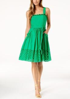 Vince Camuto Cotton Eyelet A-Line Dress