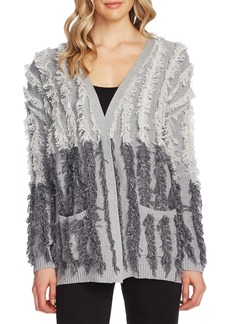 Vince Camuto Cotton Fringe Colorblocked Cardigan