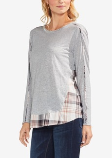 Vince Camuto Cotton Layered-Look Top