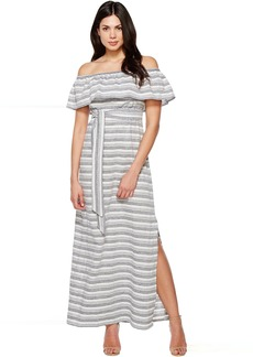 Vince Camuto Cotton Off the Shoulder Maxi
