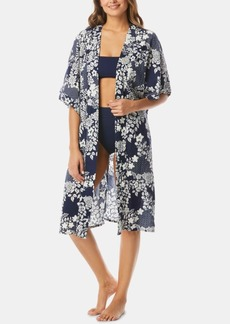 Vince Camuto Cotton Printed Kimono Cover-Up Women's Swimsuit