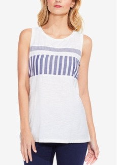 Two By Vince Camuto Cotton Striped Tank Top