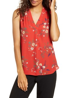 Vince Camuto Country Bouquet V-Neck Sleeveless Blouse