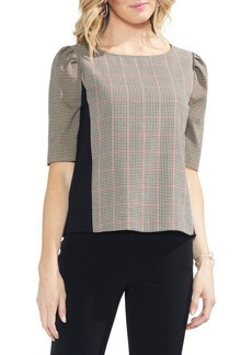Vince Camuto Country Check Elbow Sleeve Top
