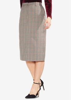Vince Camuto Country-Check Pencil Skirt