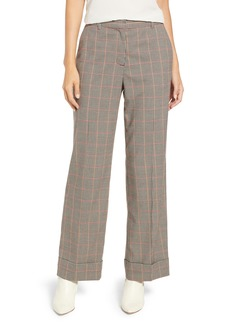 Vince Camuto Country Check Wide Leg Cuff Pants
