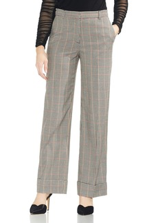 VINCE CAMUTO Country Check Wide-Leg Pants