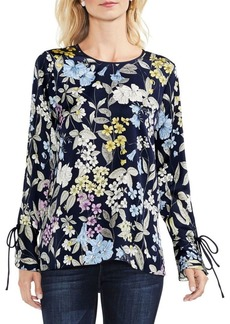 Vince Camuto Country Floral Flare Cuff Blouse