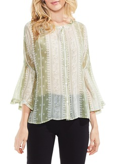 Vince Camuto Country Paisley Bell Sleeve Blouse