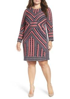 Vince Camuto Crepe Body-Con Dress (Plus Size)