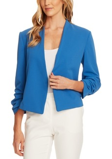 Vince Camuto Crepe Gathered-Sleeve Blazer