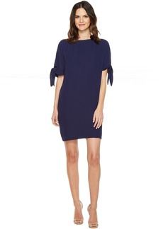 Vince Camuto Crepe Knotted Sleeve Shift Dress