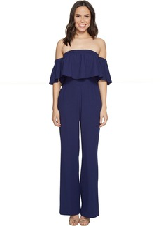 Vince Camuto Crepe Off the Shoulder Jumpsuit