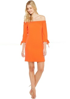 Vince Camuto Crepe Off the Shoulder Shift Dress