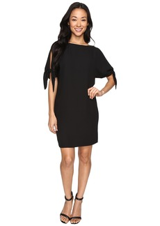 Vince Camuto Crepe Shift Dress w/ Knotted Sleeve
