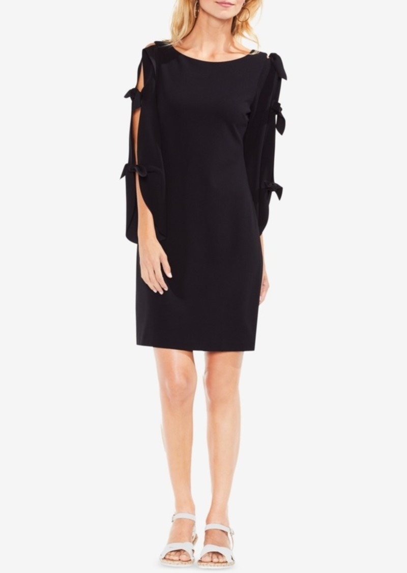 Vince Camuto Crepe Tie-Sleeve Shift Dress