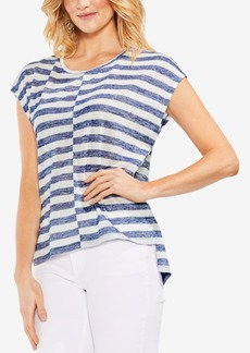 Vince Camuto Crew-Neck Striped T-Shirt