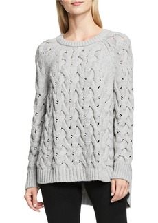 VINCE CAMUTO Crewneck Chunky Cable Knit Sweater