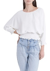 Vince Camuto Crinkle Twill Blouse