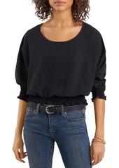 VINCE CAMUTO Crinkle Twill Smocked Blouse