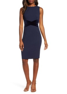 Vince Camuto Crisscross Waist Sheath Dress