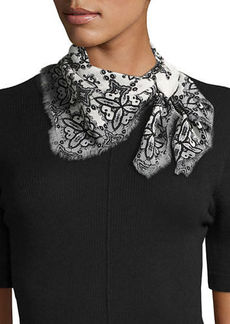 Vince Camuto Crochet-Print Silk Bandana Scarf