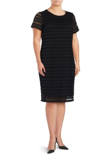 Vince Camuto Crocheted Overlay Shift Dress