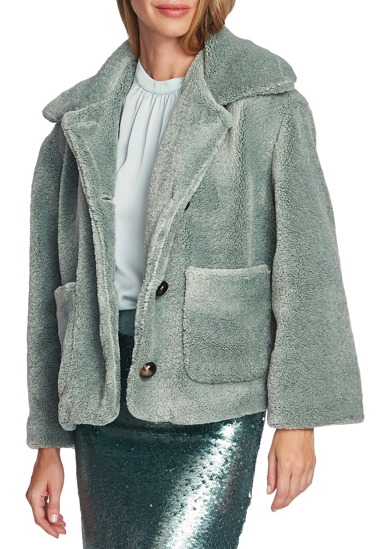 Vince Camuto Crop Faux Fur Jacket