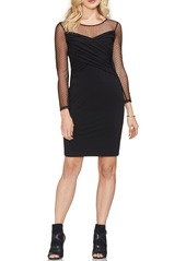 Vince camuto vince camuto cross front dot mesh detail dress abv6ab9a9f7 a