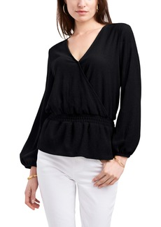 Vince Camuto Cross Front Peplum Blouse