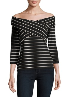 VINCE CAMUTO Crossed Panel Off-the-Shoulder Top