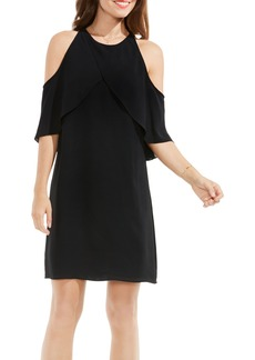 Vince Camuto Crossover Cold Shoulder Shift Dress