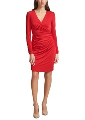 Vince Camuto Crossover Ruched Dress